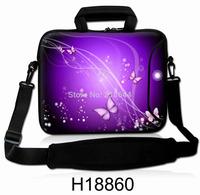 Purple series pattern Laptop Notebook shoulder bag with handle handbag Neoprene two zipper 15.6' 17' 17.3' inches for macbook