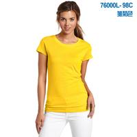 Female summer short-sleeve T-shirt 2014 100% fashion cotton t-shirt slim casual women's