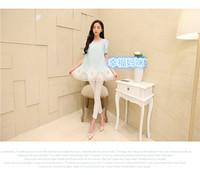 Fashion 2014 New Pregnant Dress chiffon skirt patch lace sweet embroidery casual dress blue,pink maternal dress plus XL
