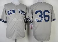 2014 New York Baseball Jersey  #36 Carlos Beltra Gray cool base T shirt