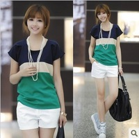 new 2014 arrival summer chiffon T Shirt Women Tops Short-sleeve t shirts 2 color s m l xl size