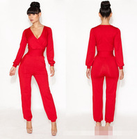 New 2014 explosion models rompers women Fashion V-neck sexy nightclub evening party  leotard hot&sexy Jumpsuits-Rompers
