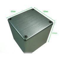 1PC Silver Aluminum Vintage  Amplifier Output Transformer Protect cover enclosure Box  84*80*91mm