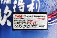 Free ship, 20W - 50W 220V to 12V YAM2050 Halogen Light G4 Quart Bulb LED Driver Power Supply Converter Electronic Transformer