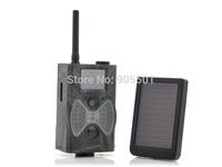 12MP 940NM Black IR night vision MMS GPRS trail game camera hunting camera + Solar Panel Battery Free Shipping