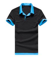 Double collar black and blue collar  Mens T Shirt men's short Sleeve t shirt slim brand t-shirt men BIG SALE Freeshipping