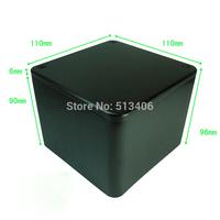 1PC Black  Aluminum Vintage  Amplifier Power Transformer Protect cover enclosure Box 110*110*96 mm