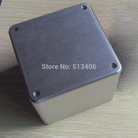 1PC Silver Aluminum Vintage  Amplifier Power Transformer Protect cover enclosure Box 110*110*96 mm