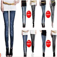 S-XL New 2014 Women's Pants Fashion Pencil Pants Leggings Stonewash Denim Skinny Stretchable Faux Jeans 14 Colors