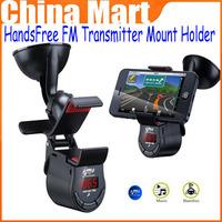 Hot Saling FM Transmitter Mount Holder HandsFree Speaker Car Kit For iPhone 5S 4S