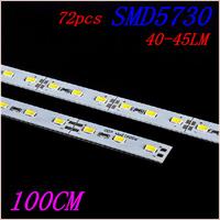 100pcs LED Bar lights hard strip 100CM DC 12V36 leds SMD5730 36W55-60LM LED Hard Rigid LED Bar light white/warm white by EMS/DHL
