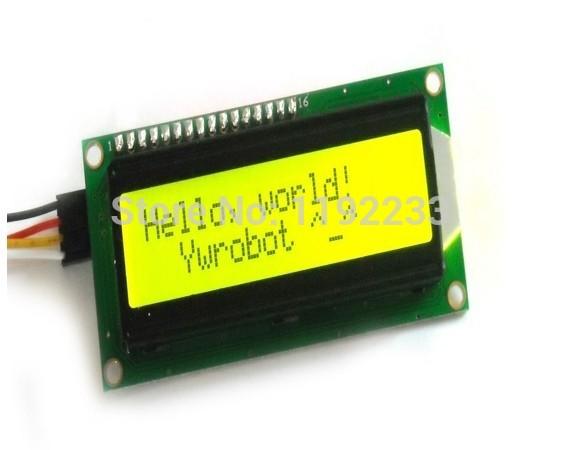 IIC I2C 1602 LCD Olivine Yellow Green Blacklight Screen Module For Arduino