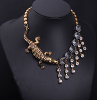 Free shipping!2014 high quality new arrive fashion jewelry crystal  stone drop choker statement necklace for women