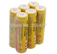 freeship Hot sale,6PCS/LOT ultrafire 18650 5000mAh battery 3.7V Rechargeable 18650 Battery for LED Flashlight,Free Shipping