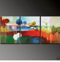 Modern Abstract hand-paint Art Oil Painting Wall Decor canvas (with framed)A481