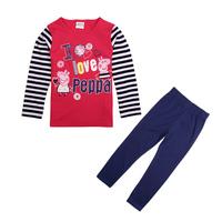 Bebe Conjunto De Roupa Baby & kids girls clothing set baby cartoon pattern Peppa pig roupas meninas roupas de bebe