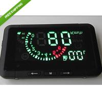 Free Shipping universal large-screen digital speed Car HUD for OBD II standard models