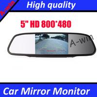 "HD 800*480 DC 12V car Monitor for DVD Camera VCR 5"" Color TFT LCD Car Rearview Mirror Monitor"