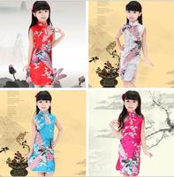 Hot Chinese Kid Child Girl Baby Peacock Cheongsam Dress Qipao 2-8 YS Clothes