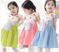 2014 summer Free shipping girl puffy dress dancing clothing princess tutu dress /children's dresses floral bow dress