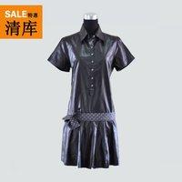 Cop.copine summer short-sleeve shirt collar one-piece dress kerman