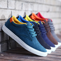 2014 spring high men's sneakers shoes nubuck leather casual shoes, breathable plate shoes four seasons shoes for men size:39-44