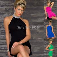 Fashion sexy women one-piece dress slim hip racerback formal dress clothes