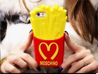 2014 Hot Sale OVER 20 BILLION SERVED M Style Fries Silicon Case for iPhone 4 4S 5 5S for Samsung Galaxy S5 Note 3 chip case