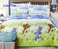 Cartoon Animal Bedding set  Sets Bedclothes twin full queen king Size Bedding Mouse and Tom bedspread bed set home textile