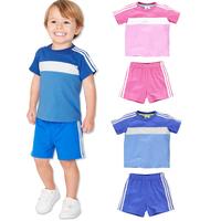 2014 A-D Children clothing Boys girls casual short-sleeved suit 2 pcs baby kids clothes set(t shirt+ short pants) 5 sets/lot