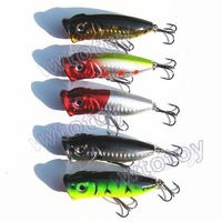 Fish hook Fishing Tackle65mm/ 13g Popper Plastic Artificial Minnow Fishing Lure Hard Bait