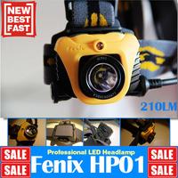 Fenix HP01 LED Outdoor Headlights 210 Lumens+2 AA battery + Red light Waterproof Rescue Search Hiking Head Lamp