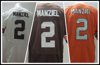 American Football Jerseys 2014 Draft  Cleveland #2 Johnny Manziel Sports Jersey,Embroidery Logos,Free Shipping,Accept Mix Order