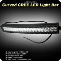 "22"" 120W Curved CREE LED Work Light Bar Spot&Flood Combo Offroad Driving Bar ATV"