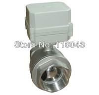 11/2'' stainless steel full port valve AC110V-230V NC/NO electric ball valve for water treatment heating systems