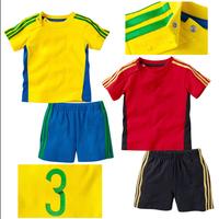 2014 A-D Children clothing Boys girls casual short-sleeve sport suit 2 pcs kids clothes set(t shirt+ short pants) 6 sets/lot