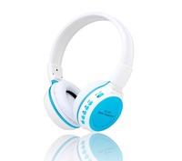 Stereo computer headphone with microphone  Headband sports mp3 headphone with fm radio  SD card read FM radio folding headphone