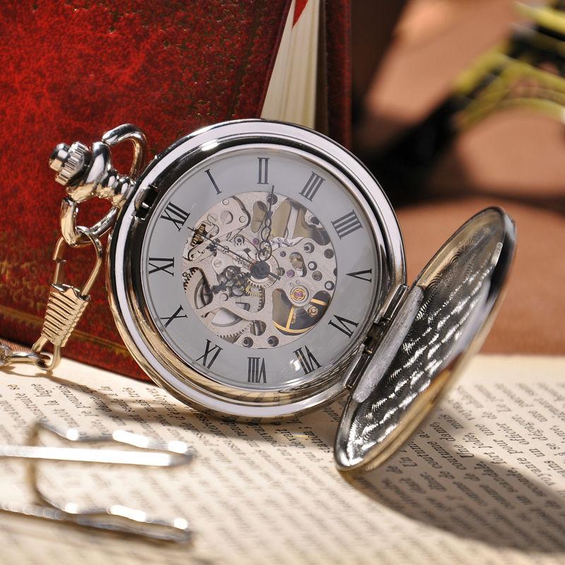 Стимпанк карманные часы высокого качества мужчины