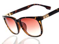 2014 New Hollow-Carved  man / woman sunglasses Fashion Brand Designer Very Shine sunglasses Mix Colors 12pcs/lot