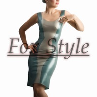 Free shipping latex club dress fashion wearing