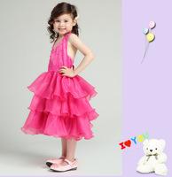 Free shipping 2014 Children's party dress children wedding dress princess dress organza dress