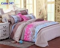 Luxury  Fashion Bedding set  Bedclothes bedspread bed set bedlinen brown flower Bedding Set Diamond Velvet Duvet cover Color 347