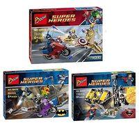 New classic toys Minifigure Blocks Avengers Union Batman Catwoman city track Souptoys