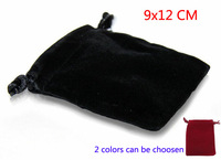 20pcs/lot 9*12cm high quality Red and Black Velvet Drawstring Pouch Bag/Jewelry Bag,Christmas/Wedding Gift Bag