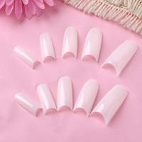 New Promotion 500 PCS Natural False Acrylic UV Gel Half French Nail Art Tips Tools