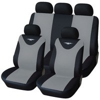 Universal New Black Gray 9-piece Front Rear Car Seat Covers Set For Crossovers SUV Sedans Free Shipping