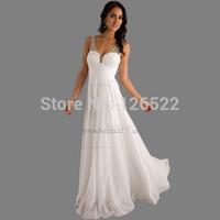 Free Shipping Long Evening Dresses 2014 New Arrive !! Cheap Long Chiffon Beaded Ruffle Off Shoulder Evening Dress