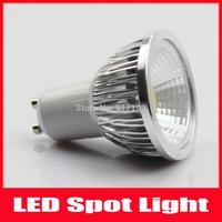 NEW Dimmable LED GU10 3W COB LED Spotlight Aluminum Bulb Lamps Warm White/Cool white 5pcs/lot Free Shipping