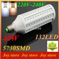 40W,5730 SMD,LED Lamps Bulb,E27 B22 E14,220V,230V,240V,Cold White/Warm white,132 LED,Corn Light Bulb,Ultra bright spot lights