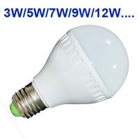 Hot sale High brightness LED Bulb Lamp E27 E14 B22 2835SMD 5W 7W 9W 12W 15W AC220V 230V 240V Cold white/warm white Free shipping